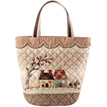 Bag PA-605 of House and scalloped cute Orimupasu made patchwork kit (japan import