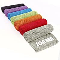 Jonhen Toalla fría de hielo, secado rápido, ideal para alivio instantáneo del calor en el cuello cuando se realizan fitness, pilates y deportes al aire libre, 100x 30cm, gris