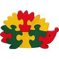 Puzzle 3D bois enfants. Puzzle hérisson 3D loisirs créatifs. Hêtre massif. Fabriqué en Europe