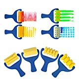 EVNEED Paint sponges for kids,29pcs of fun Paint Brushes for Toddlers