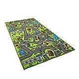 HoSayLike Multicolor Kids Carpet Playmat Teppich City Life Ideal Zum Spielen Mit Autos Und Spielzeug Spielen, Sicherer, Ungiftiger Und Harmloser Teppich 60 Zoll X 32 Zoll