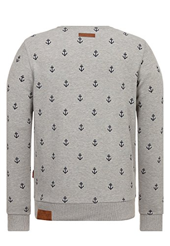 Naketano Male Sweatshirt Fuck being modest Gun Smoke Grey Melange