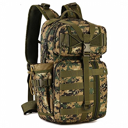 Hung Kai 30l All 6 Colors Camouflage Water Bottle with Storage Bag Waterproof and Shockproof Molle All Hotels Color Camouflage Water Bottle with Storage Bag Waterproof and Shockproof (Camo T-shirt Digital Acu)