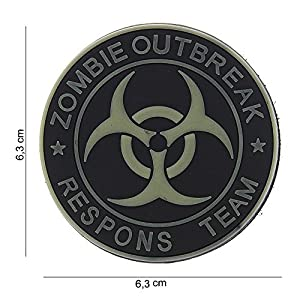 """Patch 3D PVC """"Zombie Outbreak Respons Team"""" Noir / Cosplay / Airsoft / Camouflage"""