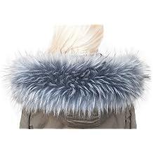 Cappuccio Assetto Di Ecopelliccia Donna Collare collo di pelliccia ecologica 99527fea6dd1