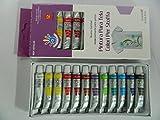 12 X tube peinture pour tissu vetement 12 couleurs 12 ml Textile Déco Art