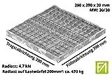 Fenau | Garagen-Gitterrost/Baunorm-Rost Maße: 390 x 390 x 30 mm - MW: 30 mm / 30 mm (Vollbad-Feuerverzinkt) (Passend für Zarge: Fenau 400 x 400 x 33 mm) Industrie-Norm-Rost für Lichtschacht