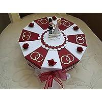 Schachteltorte RINGE oder HERZEN in Wunschfarbe Geldgeschenk Torte Hochzeit Geschenkidee