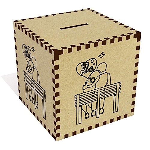 Azeeda Grande 'Be Mine Pareja' Caja de Dinero / Hucha (MB00008213)