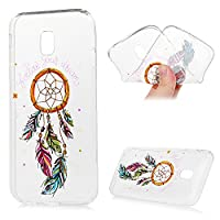 MAXFE.CO for Samsung Galaxy J3 2017 Case Ultra-Thin TPU Silicone Cover Case Classic Painting Transparent Clear Rubber Case for Samsung Galaxy J3 2017 - Feather Wind Chimes