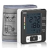 Duomishu elektrische Unterarm Blutdruckmessgerät Handgelenk Blutdruck Monitor mit großem Display digital Blutdruckmessgerät für Zuhause oder Reise