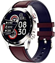 Smart Watch for Men with Bluetooth Calls Fitness Tracker Mens with Blood Pressure Monitor Heart Rate Sleep Com