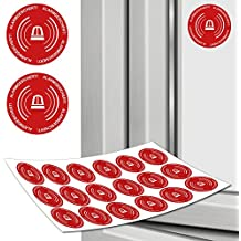 Aufkleber Alarmgesichert Warnaufkleber 18 Stück in 3 cm Sicherheitsaufkleber Alarmanlage
