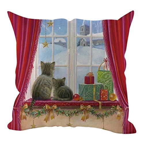LILIHOT Weihnachten Kissenbezug Kissenbezüge Dekorative Sofakissenbezug Home Decoration Kissenbezug Lendenkissen Wurfkissenbezug Hause Auto Cafe Kindertag Deko