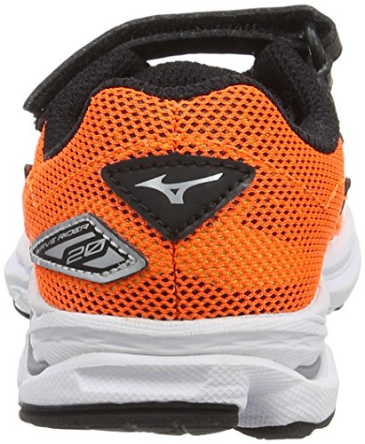 Mizuno Jungen Wave Rider 20 Jr V Laufschuhe Orange (Clownfish/black/silver)