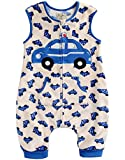 Vaenait baby 80-110 Jungen Ultrasoft Mikrofaser Schlafsak Dicke Decke Fuer Winter Microfiber Blue Taxi L