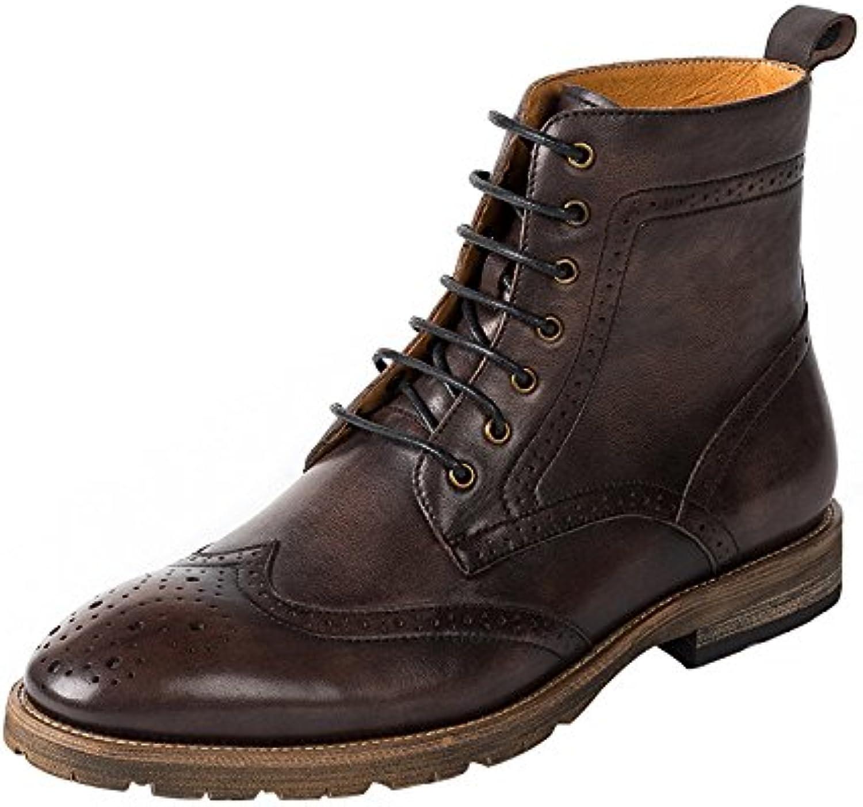 GTYMFH Herbst Echtes Leder Männer Booties Chelsea Boots Vintage Lederstiefel