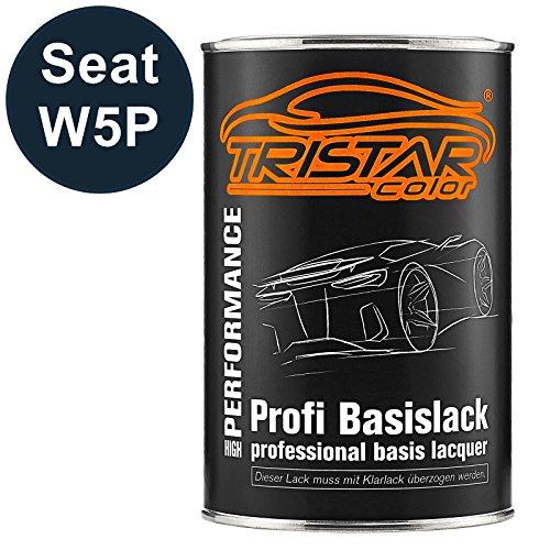 TRISTARcolor Autolack Dose spritzfertig für Seat W5P Azul Apolo Metallic/Apolo Blau Metallic Basislack 1,0 Liter 1000ml