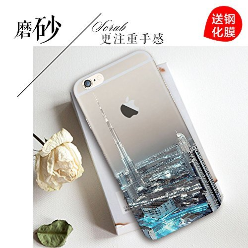 iPhone 4 Hülle, iPhone 4s Hülle, Vandot 3D Landschaft iPhone 4 4s Schutzhülle Transparent Muster Handyhülle Thin Pattern TPU Silikon Weich Malerei Passgenaues Telefonkasten Abdeckung Case Cover Handy  Color 21