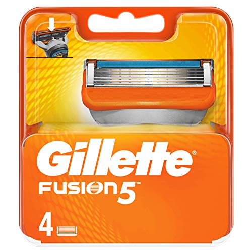 Gillette Fusion 5 Lamette di Ricambio per Rasoio, Confezione da 4Lamette