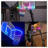 LCLrute Hoop Light LED Lit Basketball Rim Attachment Helps You Shoot Hoops at Night