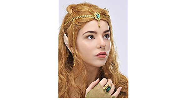 Sancto International Principessa dell elfo verde gioiello corona copricapo   Amazon.it  Giochi e giocattoli 5f6bba6f031e