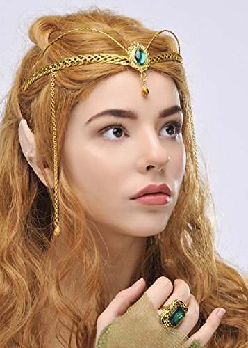 Elf Princess Green Jewel Krone Headpiece (Arwen Krone)