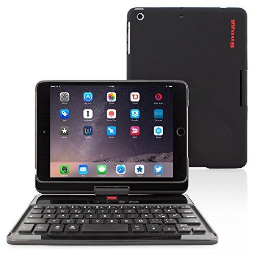 Snugg iPad mini 1/2/3 QWERTZ Tastatur Case (Schwarz) - Hülle mit drehbarer Bluetooth Tastatur (Mit Tastatur Mini-ipad-hüllen)