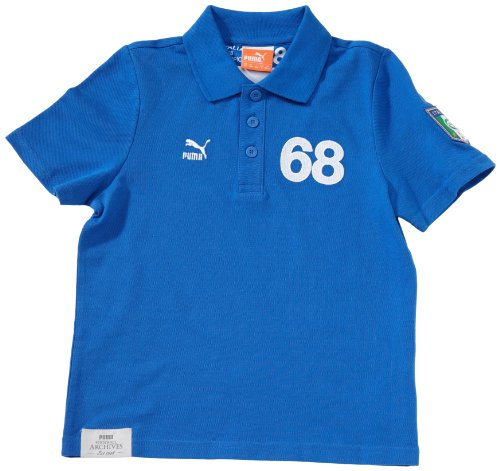 PUMA Kinder Polo Shirt Football Archives T7 Short Sleeve team power blue-figc