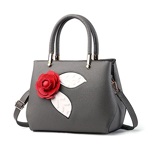 ANNE, Borsa a mano donna marrone Khaki Dark Grey