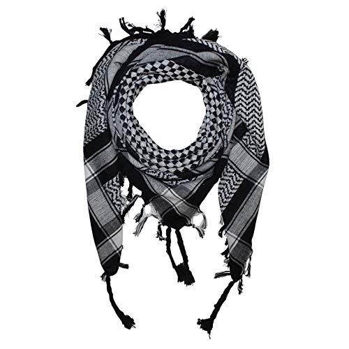 Superfreak Palituch - Karomuster klein schwarz - weiß - 100x100 cm - Pali Palästinenser Arafat Tuch - 100{77a41921e1a742da7aa88de33fc5fe6e02f90097deecf993c956ec8c5e61c5f9} Baumwolle