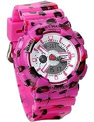 Jewelrywe Reloj Militar de Camuflaje, Reloj Digital Deportivo de Hombre Chico Multifunciones para Aire Libre, Blanco Relojes Unisex
