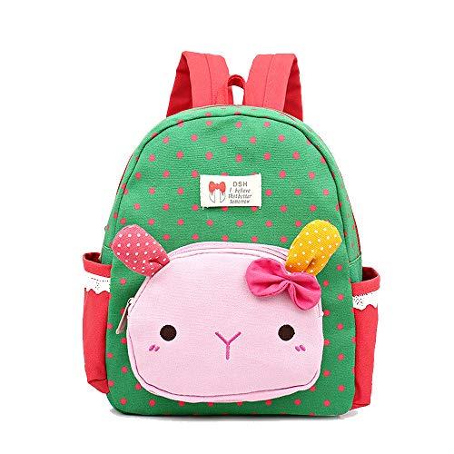 Hase Schultasche für Kinder Kindergarten-Schultasche Rucksack Mode Ultraleicht Freizeit Junge Mädchen Rucksack für Outdoor Sports Camping Picknick Rucksäcke 1-6 Grade (2)