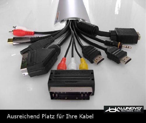 TV Design Aluminium Kabelkanal in schwarzmatt Feinstruktur lackiert in verschiedenen Längen von ALUNOVO (Länge: 20cm) - 4