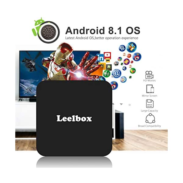Leelbox-Android-81-TV-Box-avec-tlcommande-vocale-Q2-MINIS-2-Go-RAM-16-Go-ROM-Support-4-K-60Hz-Smart-TV-Box24G-WiFi4-KHDH265-Android-81-TV-Box