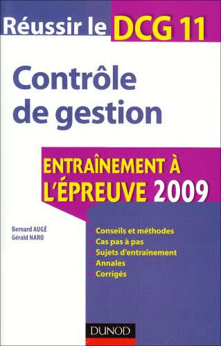 Réussir le DCG 11 - Contrôle de gestion - 1re édition - Contrôle de gestion: Contrôle de gestion PDF Books