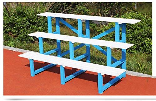 $Etagère d'exposition Support de fleur en bois massif Terrasse extérieure en plein air Piège trapézoïdal anti-corrosion Stand en bois à trois niveaux ( Couleur : C , taille : 1 )