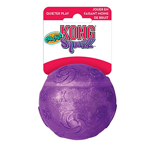KONG SQUEEZZ CRACKLE BALL LARGE SPIELBALL DIA. 7,6 cm (Kong Dog Company Toy)