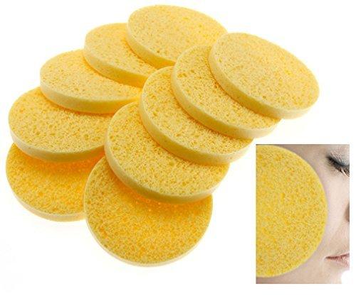 Spugne naturali per la pulizia del viso in cellulosa, 10 pz.