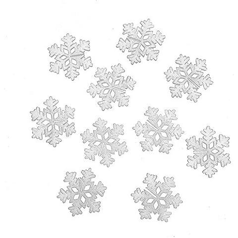 5pcs natale neve decorazione adesivo schiuma vetro ornamento fiocco di neve di natale ornamento di Natale 10cm