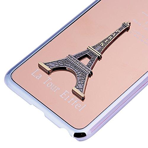 Pour IPhone 6 Plus / 6S Plus 3D Metal Tower Décoration Placage Skinning Hard Case JING ( Color : Purple ) Pink