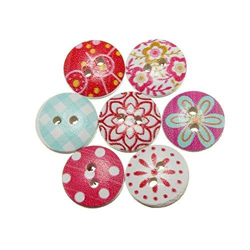 80 botones vintage acabado brillante para scrapbooking, costura, decoración..