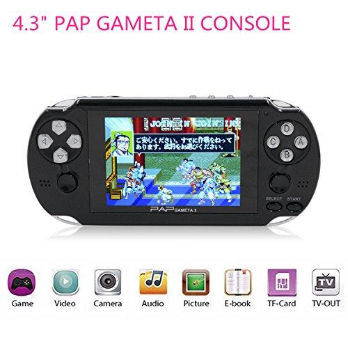 """Consola de juegos portátil, HLZK 64Bit Reproductores de videojuegos clásicos 4.3 """"PAP GametaII Plus con 600 juegos Regalos para niños pequeños"""