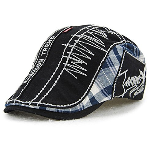 Sombrero de pico de pato de algodón Tapa Plana taxista la tapa exterior  ajustable unisex de 5616992cb79