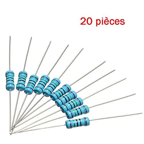 20x Résistances métal ¼W - 0.25w - 1% - 220R - 220ohm 220 ohm - 57res132