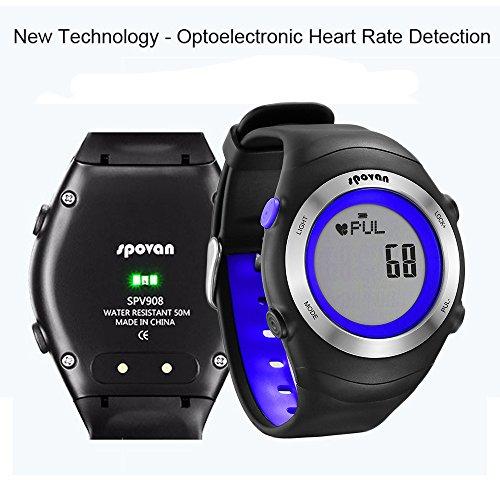 GearFan Wearable Devices Smart Men's Watch Pedometer Calories Clocks Digital Wristwatches Outdoor Sports Blue