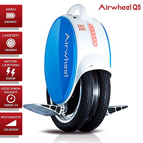 Moteur électrique pour monocycle airwheel Q5Bleu Blanc batterie Puissance 500W 260WH