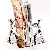 Sujetalibros para hombre Kung Fu Heavy Duty de Joyoldelf, extremos de libros de acero inoxidable para el estante Home Office Library Decoration, 1 par