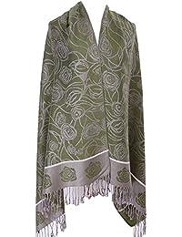 Demarkt 1 Pcs Longue Écharpe Châle Roses Foulard Coton Glands Châle Chaud  Automne Hiver Couverture Écharpe Accessoire Femmes… b3ff5d94e7d