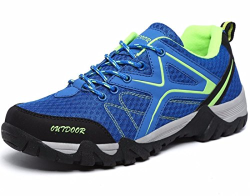 Men's Breathable Lace Up Mountain Climbing Shoes blue